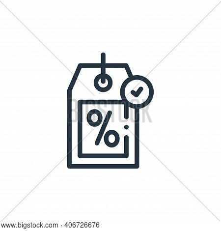 shopping tag icon isolated on white background from online shopping collection. shopping tag icon th