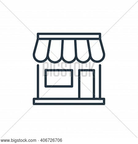 shopping store icon isolated on white background from ecommerce collection. shopping store icon thin