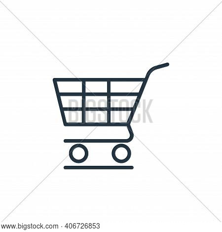 shopping cart icon isolated on white background from shopping line icons collection. shopping cart i