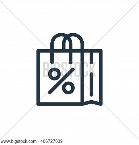 shopping bag icon isolated on white background from ecommerce collection. shopping bag icon thin lin
