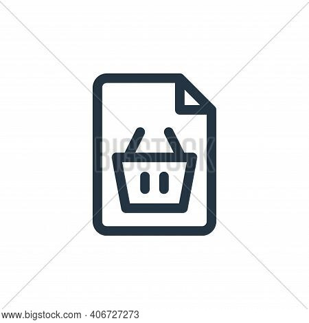 shopping icon isolated on white background from document and files collection. shopping icon thin li