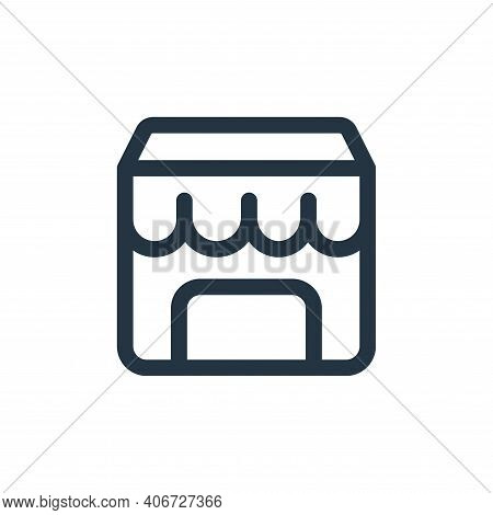 shop icon isolated on white background from web apps seo collection. shop icon thin line outline lin