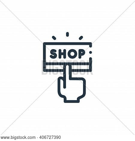 shop icon isolated on white background from online shopping collection. shop icon thin line outline