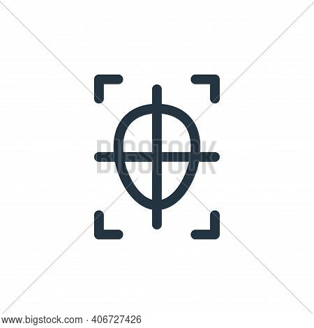 shoot icon isolated on white background from virtual reality collection. shoot icon thin line outlin