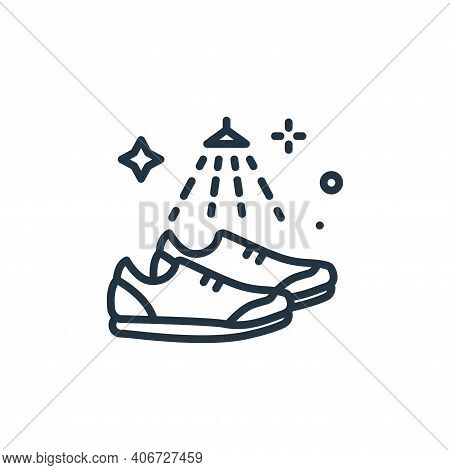 shoes icon isolated on white background from mass disinfection collection. shoes icon thin line outl
