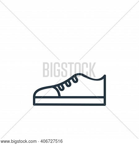 shoe icon isolated on white background from wardrobe collection. shoe icon thin line outline linear