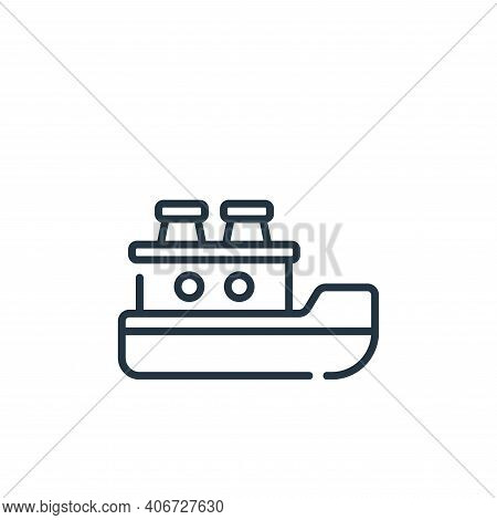 ship icon isolated on white background from children toys collection. ship icon thin line outline li