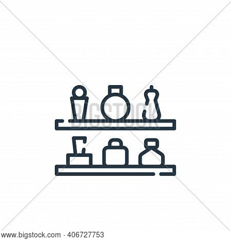 shelves icon isolated on white background from mall collection. shelves icon thin line outline linea