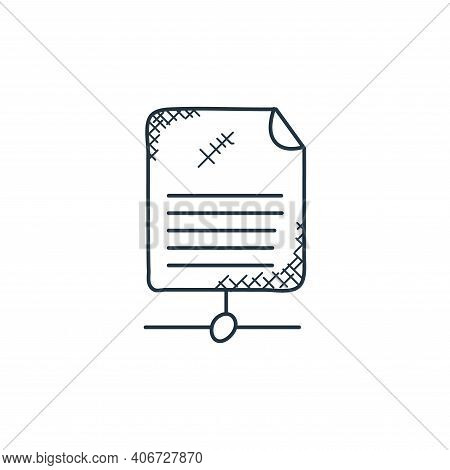 shared icon isolated on white background from technology collection. shared icon thin line outline l