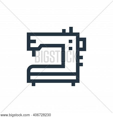 sewing machine icon isolated on white background from hobbies collection. sewing machine icon thin l