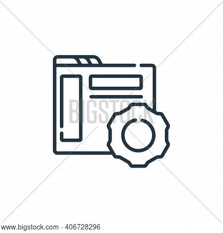 settings icon isolated on white background from web development collection. settings icon thin line