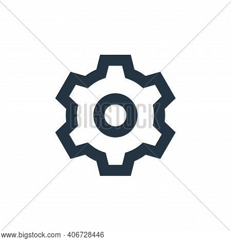 settings icon isolated on white background from user interface collection. settings icon thin line o