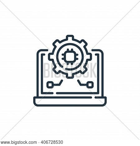 settings icon isolated on white background from robotics collection. settings icon thin line outline