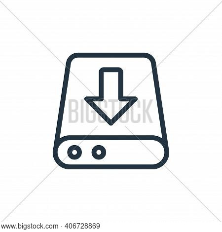 server storage icon isolated on white background from work office server collection. server storage