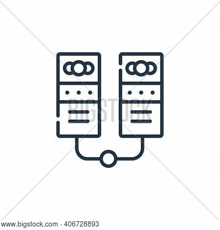 servers icon isolated on white background from telecommuting collection. servers icon thin line outl