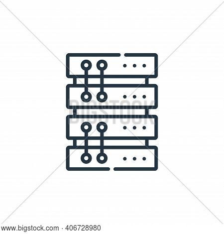 server icon isolated on white background from telecommuting collection. server icon thin line outlin