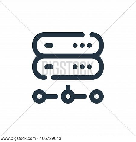 server icon isolated on white background from seo collection. server icon thin line outline linear s