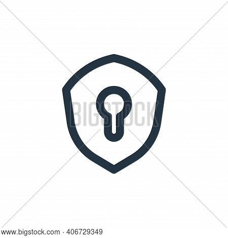 security icon isolated on white background from basic ui collection. security icon thin line outline
