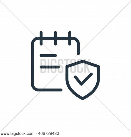secure icon isolated on white background from work office supply collection. secure icon thin line o