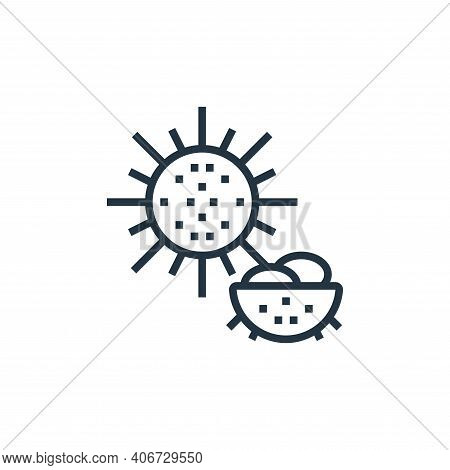 sea urchin icon isolated on white background from seafood collection. sea urchin icon thin line outl