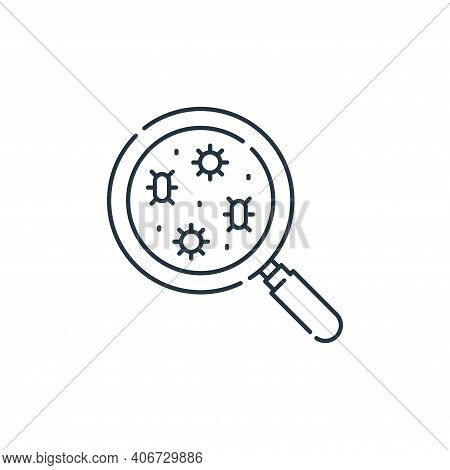 search icon isolated on white background from virus transmission collection. search icon thin line o