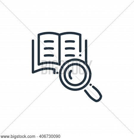 search icon isolated on white background from online learning collection. search icon thin line outl