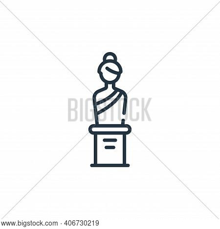sculpture icon isolated on white background from fame collection. sculpture icon thin line outline l