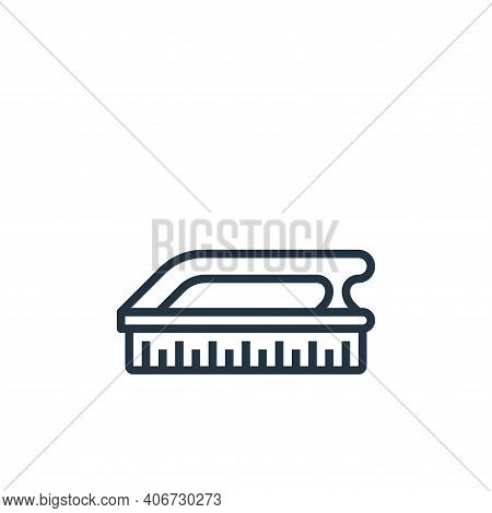 scrub icon isolated on white background from laundry collection. scrub icon thin line outline linear