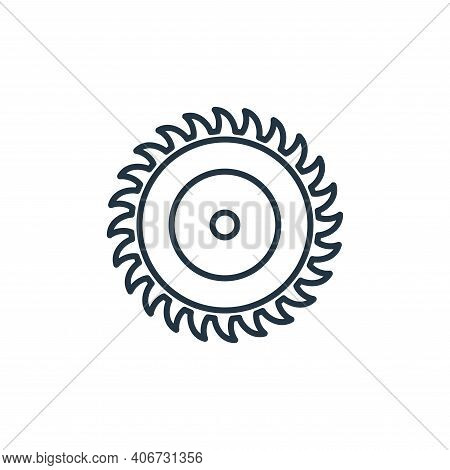 saw icon isolated on white background from carpentry collection. saw icon thin line outline linear s