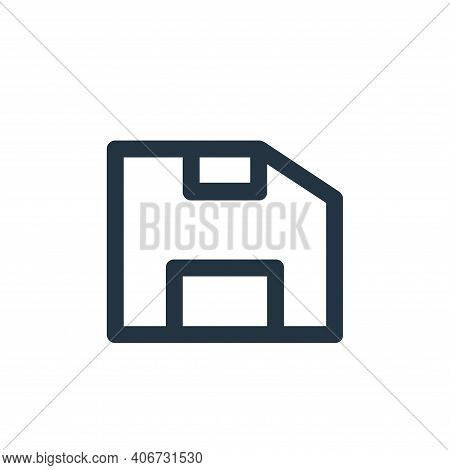 save file icon isolated on white background from user interface collection. save file icon thin line
