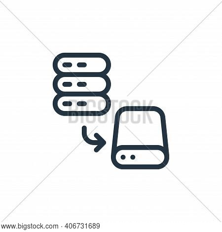 save icon isolated on white background from work office server collection. save icon thin line outli