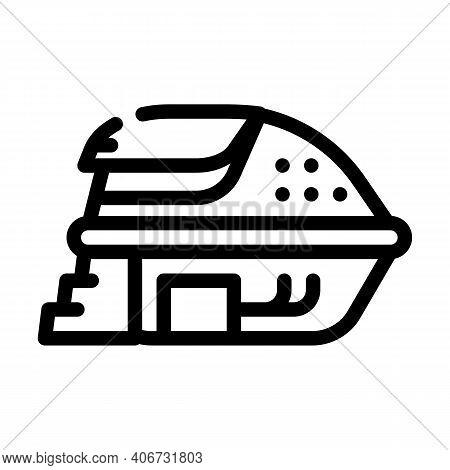 Deprivation Chamber, Floating Capsule Line Icon Vector Illustration