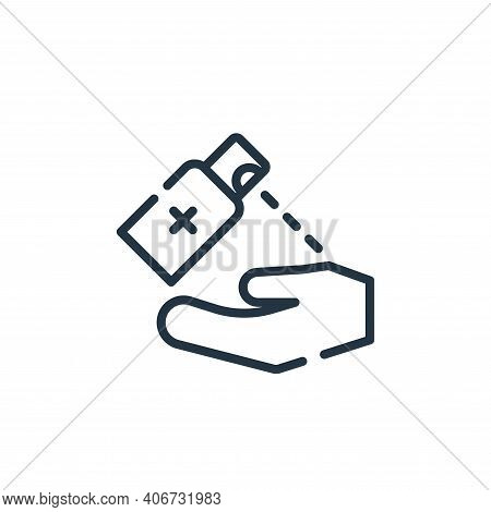sanitizer icon isolated on white background from symptoms virus collection. sanitizer icon thin line
