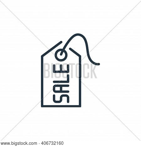 sale tag icon isolated on white background from ecommerce collection. sale tag icon thin line outlin