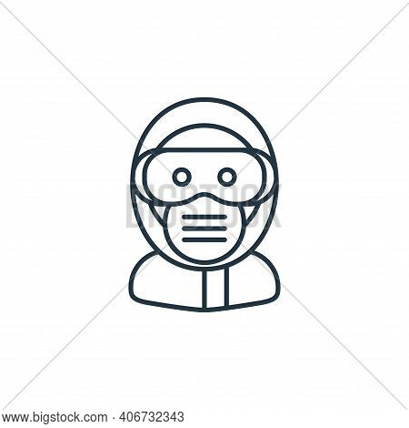 safety googles icon isolated on white background from coronavirus collection. safety googles icon th