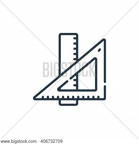 ruler icon isolated on white background from academy collection. ruler icon thin line outline linear