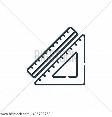 ruler icon isolated on white background from sewing collection. ruler icon thin line outline linear