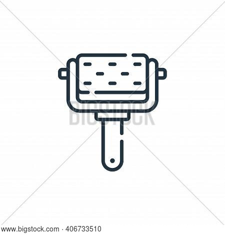 roller icon isolated on white background from cleaning collection. roller icon thin line outline lin