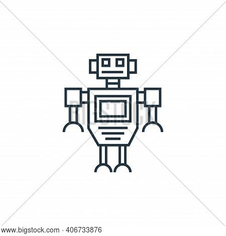 robot icon isolated on white background from technology devices collection. robot icon thin line out