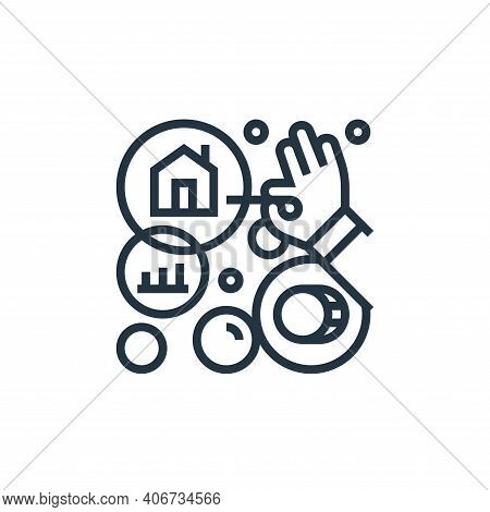 risk icon isolated on white background from economic crisis collection. risk icon thin line outline