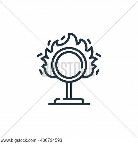 ring of fire icon isolated on white background from circus collection. ring of fire icon thin line o
