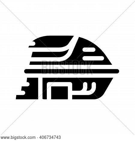 Deprivation Chamber, Floating Capsule Glyph Icon Vector Illustration