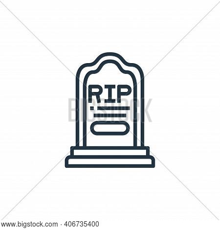 rest in peace icon isolated on white background from coronavirus collection. rest in peace icon thin