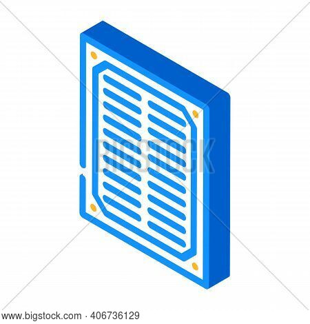 Filter Air Cleaner Part Isometric Icon Vector Illustration