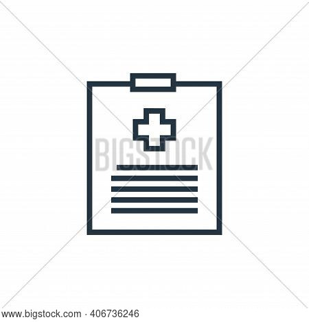 report icon isolated on white background from hospital collection. report icon thin line outline lin