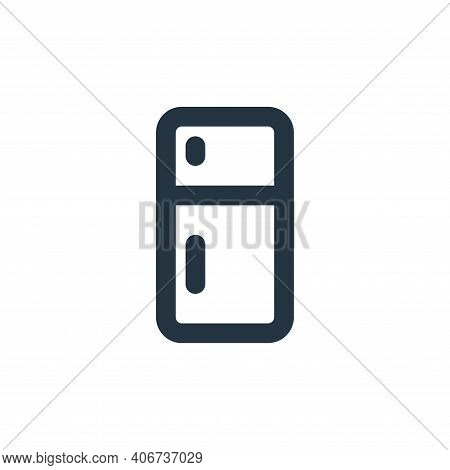refrigerator icon isolated on white background from electronics collection. refrigerator icon thin l