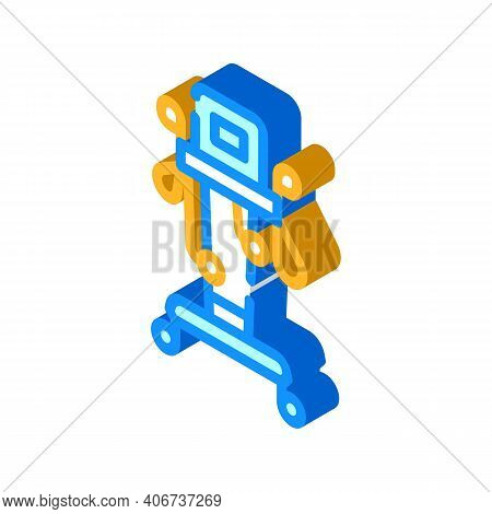 Physiotherapy Complex Isometric Icon Vector Illustration Color