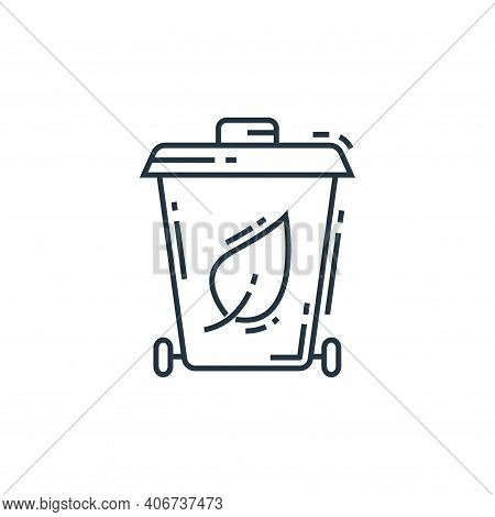 recycle bin icon isolated on white background from environment and eco collection. recycle bin icon