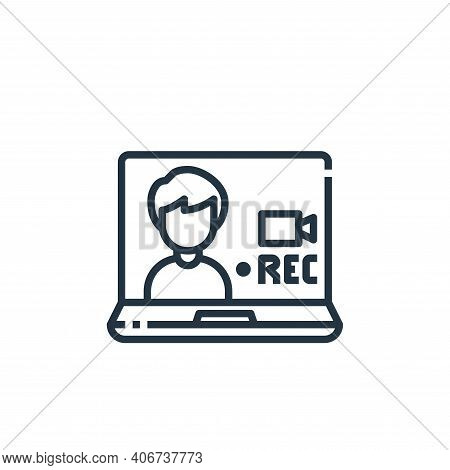 recording icon isolated on white background from working from home collection. recording icon thin l