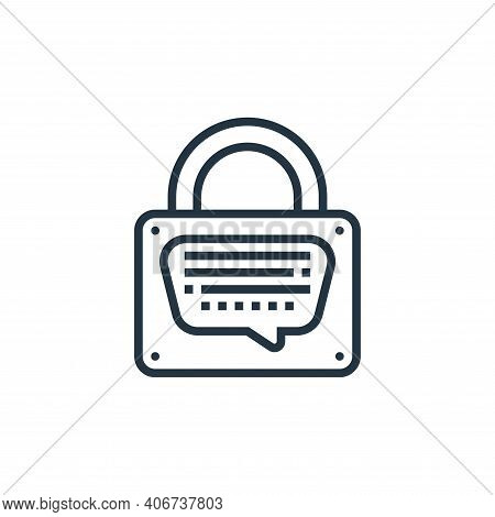 record icon isolated on white background from confidential information collection. record icon thin